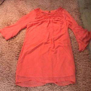A. Byer Coral Dress